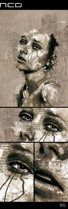 iris by Florian NICOLLE, via Behance