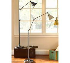 The chrome version of the Architect's Floor Lamp #potterybarn is my favorite.