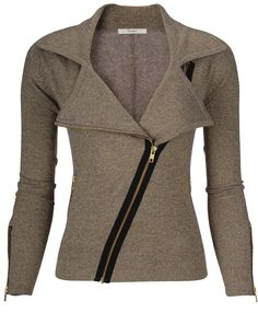 cashmere biker jacket... LOVE this! (so of course it's waaaaaay out of my price range)