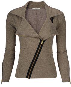 cashmere biker jacket