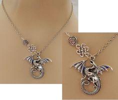 Silver Celtic Knot Dragon Pendant Necklace Jewelry Handmade NEW adjustable #Handmade #Pendant https://www.ebay.com/itm/152806751934