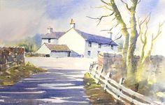 Yorkshire Landscape - watercolour video instruction - by Joanne Thomas at ArtTutor.