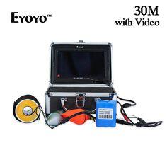 128.19$  Buy here - http://alirpv.worldwells.pw/go.php?t=32776638699 - Eyoyo 7 Inch Digital TFT Screen 30M 1000TVL Underwater Fishing Finder Fish Video Camera Monitor with Sun Visor Infrared IR LED