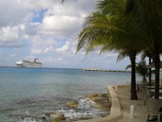 Several Cruise Ships were in Cozumel , Mexico this day. Very busy cruise ship port. www.cozumelview.com