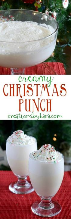 This Creamy Christmas Punch will be a hit at any holiday gathering! It is easy to make, and so delicious. A perfect punch recipe! More