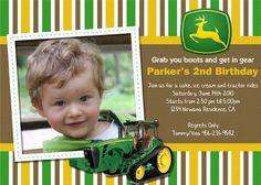 john deere birthday invitations | John Deere Tractor- Custom Birthday Invitation | Flickr - Photo ...