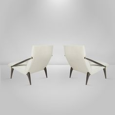 Pair of Gio Ponti for M. Singer and Sons Lounge Chairs, Circa 1950-1959 | From a unique collection of antique and modern lounge chairs at https://www.1stdibs.com/furniture/seating/lounge-chairs/