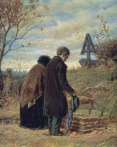 Wassili Perow, Altes Ehepaar am Grab ihres Söhnchens