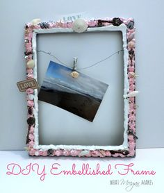 DIY Embellished Frame Label - see the full how to using Mod Podge Collage Clay, Mod Melts and Molds #decoden and mixed media crafts #plaidcrafts #DIY #modpodge