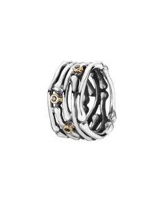 PANDORA 14K & Silver Black Diamond Ring $89.99 (reg $180.00)
