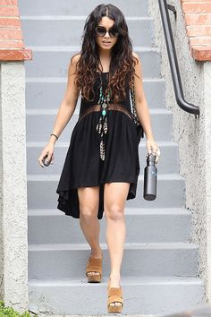 Vanessa Hudgens Style | Vanessa Hudgens at the Fortune Teller Shop in LA - Celebrity Fashion ...
