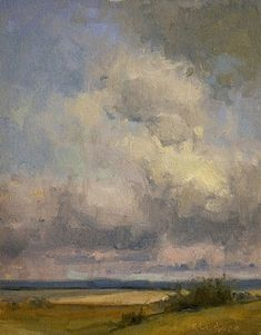 Clouds on Hoch Road by Kim Casebeer Oil ~ 10 x 8