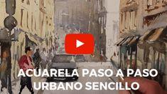 Video demo Acuarela de un espacio urbano lleno de vitalidad. Es una aproximación al ambiente que se respira en la calle. por Fermín López