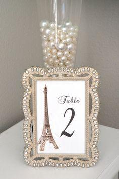 Eiffel Tower Table Number. Parisians Theme Decor. by KimeeKouture