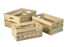Caja de madera natural  - La tienda de El sofá amarillo  Natural wood crates for your home!
