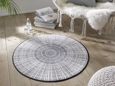 Mats like rugs at the Ambiente 2020 - Ambiente Frankfurt 2020 - Duitsland decor Frankfurt, Nitrile Rubber, Sound Absorbing, Round Rugs, Elegant, Outdoor Blanket, Grey, Interior, Studio