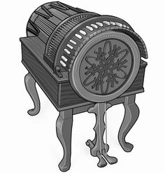 wheel harp :  musical instrument with strings and keyboard