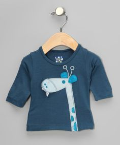 Take a look at this Twilight Giraffe Long-Sleeve Tee - Infant by KicKee Pants on #zulily today!
