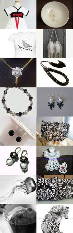 Gorgeous Black and White treasury for the #lacwe team filled with #accessories #handmade #jewelry #fineart #décor #vintage