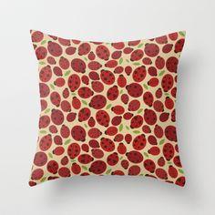 Ladybird Ladybird Throw Pillow by Joanne Hawker - $20.00