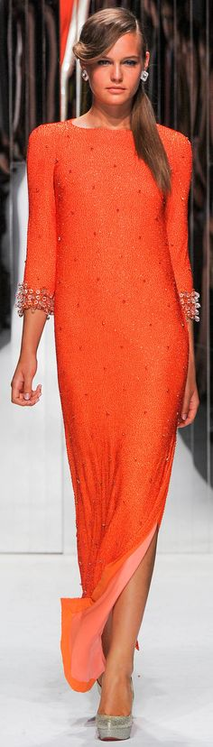 #Jenny Packham Spring Summer 2013 Ready-To-Wear Collection #Trend Metallics  #Trend Orange