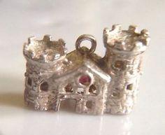 Sterling Silver Rare Princess Fairytale Castle Disney Charm Vintage Bracelet | eBay