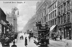 Old Postcard, Glasgow, Sauchiehall Street