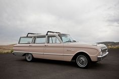 Almost a peach colored 1962 Ford Falcon Deluxe 4 door station wagon
