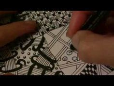 Zendoodle Sampler Zentangle Pattern Styles Tutorial 4