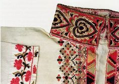 FolkCostume&Embroidery: East Telemark, Norway, embroidered shirts for Raudtrøye and Beltestakk Folk Costume, Costumes, Embroidered Shirts, Hardanger Embroidery, Bridal Crown, Scandinavian Design, Traditional Outfits, Female Art, Arts And Crafts