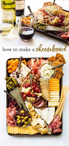 You don't need a fancy slate or wooden board to build a beautiful cheese board. A simple sheet pan is a perfect base to assemble a delicious work of art for a get-together with friends and family. Plateau Charcuterie, Charcuterie And Cheese Board, Charcuterie Platter, Antipasto Platter, Cheese Boards, Wooden Cheese Board, Slate Cheese Board, Easter Appetizers, Appetizers For Party