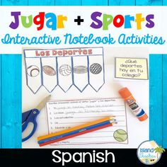 Spanish Interactive Notebook activities: jugar y los deportes. Teach students how to use the verb jugar and sports vocabulary using interactive templates.