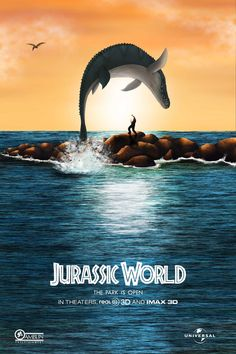 luisespiritu91:  Jurassic World Poster(Jurassic World X Free Willy)By me.
