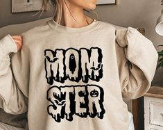 Momster SVG / Dadcula SVG / Halloween SVG / Witch svg / | Etsy Homemade Shirts, Craft Cutter, Silhouette Cameo, Witch, Halloween Costumes, Graphic Sweatshirt, Sweatshirts, Etsy, Fashion
