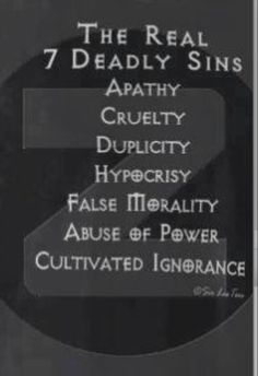 The real 7 Deadly Sins.