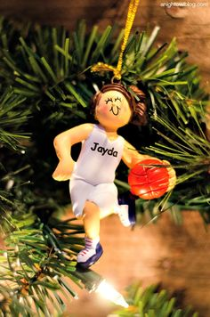 Have a sporty gal in your family? @pcgifts has great personalized ornaments to choose from! AD #PersonalizationInspiration