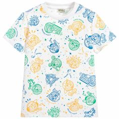 2d3662f8 Boys Cotton Jersey T-Shirt for Boy by Kenzo Kids. Discover the latest  designer
