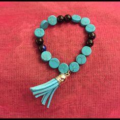 SarolenaFashion blue stones bracelet SarolenaFashion is a Handmade Brand, Instagram @Sarolenafashion , Facebook Page Sarolenafashion Jewelry Bracelets