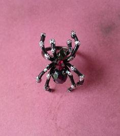 ハロウィン 蜘蛛の指輪「夜の女王」