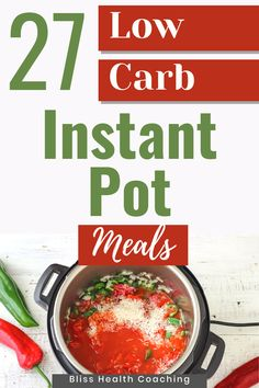 Are you looking to lower your carbs but still want a fast delicious meal? I've gathered 27 Low Carb Instant Pot Meals your family will love! #lowcarb #instantpot Gluten Free Recipes For Dinner, Delicious Dinner Recipes, Low Carb Recipes, Real Food Recipes, Family Recipes, Family Meals, Healthy Meals, Healthy Recipes, Entree Recipes