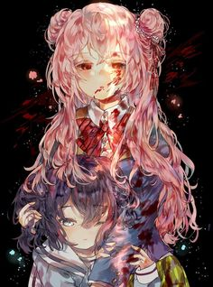 It is about an Anime. in it there is a little girl and a teen, the teen is a yandere and kills certain people. Yandere Manga, Yandere Girl, Manga Anime, Anime Art, Super Hero Life, Sugar Love, Yuno Gasai, Gothic Anime, Life Poster