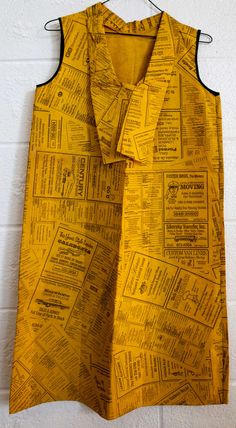 Anonymous; Yellow Pages Paper Dress, 1966.