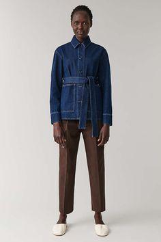 BELTED DENIM JACKET - blue - Coats and Jackets - COS US