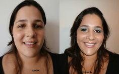Abtes e depois Auto Maquiagem