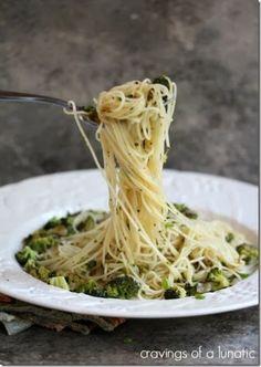 Angel Hair Pasta with Shallots, Garlic, Broccoli & Lemon aka Farmers Market Pasta #WeekdaySupper