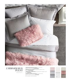 love the pink faux fur pillow for a hint of pink in LaLa's room