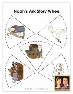 Fun Noah's Ark Story Wheel for young learners!