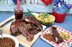 Jamaican Baby Back Ribs with Fruit Salsa - 20 Delicious Labor Day Recipes Grilling Recipes, Pork Recipes, Jamaica Food, Bbq Menu, Chili Cook Off, Fruit Salsa, Jamaican Recipes, Caribbean Recipes, Main Meals