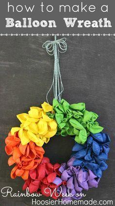 How to make a Balloon Wreath :: Full instructions on HoosierHomemade.com