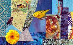 Elsamee: Collage postcard for The DIY Postcard Swap Winter 2014 #diypostcardswap #mailart